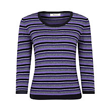 Buy Precis Petite Multi Striped Jumper, Multi Online at johnlewis.com