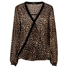 Buy Oasis Wrap Leopard Print Shirt, Animal Online at johnlewis.com