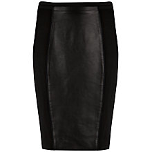Buy Ted Baker Bebu Faux Leather Panel Skirt, Black Online at johnlewis.com
