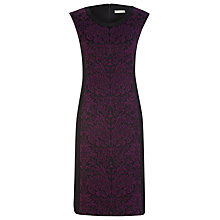 Buy Planet Jacquard Panelled Dress, Black Online at johnlewis.com