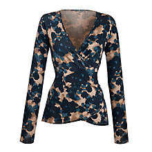 Buy Sandwich Ikat Cross Over Top, Slate Grey Online at johnlewis.com