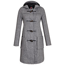 Buy Gloverall Long Slim Duffle Coat, Charcoal Online at johnlewis.com