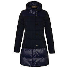 Buy Sandwich Two Tone Long Quilted Coat, Dark Blue Online at johnlewis.com