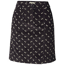 Buy Fat Face Deco Heart Corduroy Skirt, Black Online at johnlewis.com