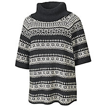Buy Fat Face Louis Fairisle Cape, Phantom Online at johnlewis.com