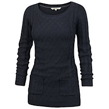 Buy Fat Face Fleur Knit Tunic Top, Navy Online at johnlewis.com