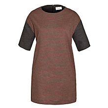 Buy Toast Panelled Dress, Maroon Online at johnlewis.com