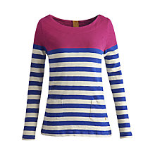 Buy Joules Anwen Jersey Top, Dark Pink Online at johnlewis.com