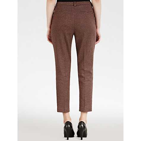 Buy Toast Slim Check Trousers, Maroon Online at johnlewis.com