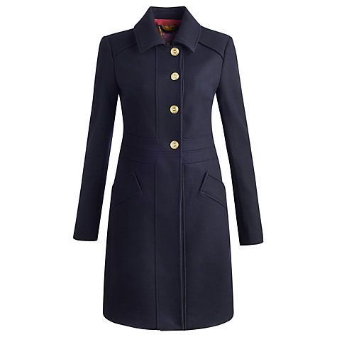 Buy Joules Leybury Wool Coat, Marine Navy Online at johnlewis.com