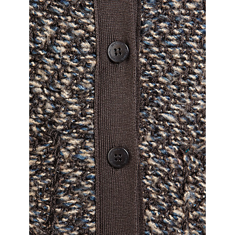 Buy Sandwich Long Bouclé Cardigan, Antique Blue Online at johnlewis.com