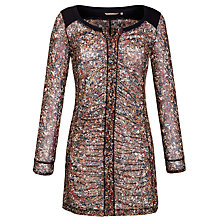 Buy Sandwich Floral Print Mesh Tunic Dress, Camel Gold Online at johnlewis.com