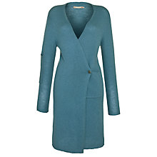 Buy Sandwich Long Pocket Detail Cardigan, Antique Blue Online at johnlewis.com