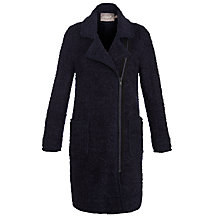 Buy Sandwich Boucle Long Coat, Dark Blue Online at johnlewis.com
