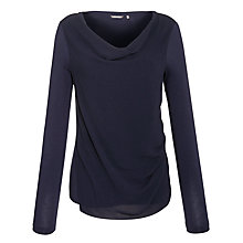 Buy Sandwich Cowl Neck Crepe Front Top, Dark Blue Online at johnlewis.com