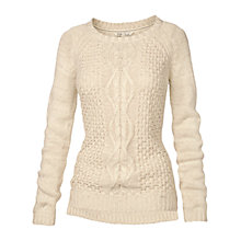 Buy Fat Face Astrid Cable Jumper, Ivory Online at johnlewis.com