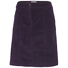 Buy Fat Face Corduroy Straight Skirt, Purple Online at johnlewis.com