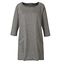 Buy Toast Pocket Tunic Dress, Charcoal Melange Online at johnlewis.com
