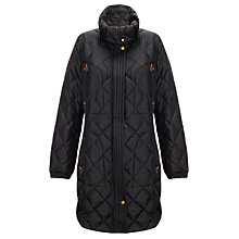 Buy Aigle Emee Long Quilted Coat, Black Online at johnlewis.com