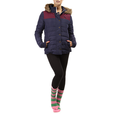 Buy Rampant Sporting Blackhall Quilted Jacket, Peacoat Online at johnlewis.com