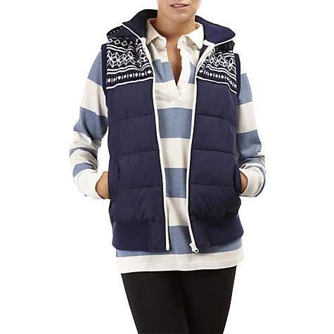 Buy Rampant Sporting Fairisle Panel Gilet, Peacoat Online at johnlewis.com