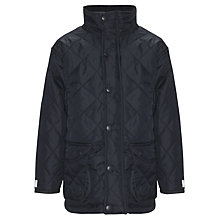 Buy Plain Unisex Quilted School Jacket, Navy Online at johnlewis.com