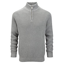 Buy Henri Lloyd Butterton Half Zip Jumper, Grey Marl Online at johnlewis.com