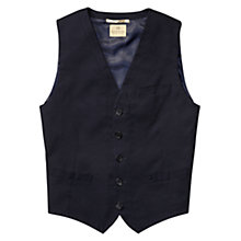 Buy Scotch & Soda Pique Waistcoast, Navy Online at johnlewis.com