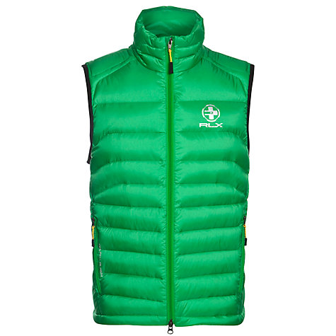 Buy Ralph Lauren RLX Golf Explorer Gilet, Preppy Green Online at johnlewis.com