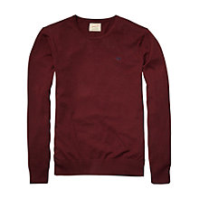 Buy Scotch & Soda Crew Neck Jumper, Ruby Melange Online at johnlewis.com