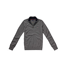 Buy Tommy Hilfiger Lambswool Half Zip Jumper Online at johnlewis.com