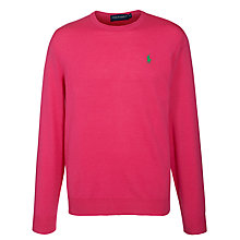 Buy Polo Golf by Ralph Lauren Crew Neck Jumper, Accent Pink Online at johnlewis.com