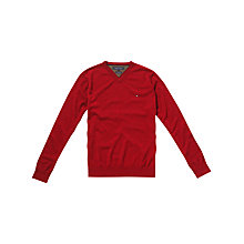 Buy Tommy Hilfiger Lambswool V-Neck Jumper Online at johnlewis.com