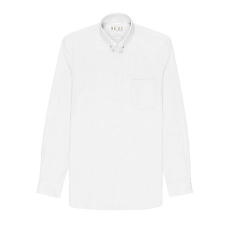 Buy Reiss Buster Collar Bar Long Sleeve Shirt Online at johnlewis.com