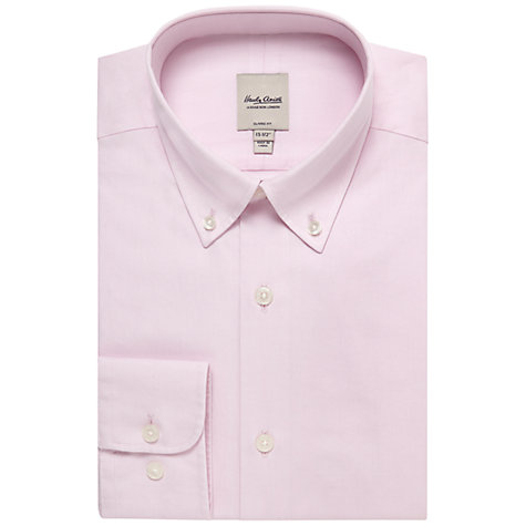 Buy Hardy Amies Oxford Plain Long Sleeve Shirt Online at johnlewis.com