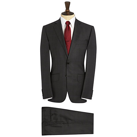 Buy Hardy Amies Prince of Wales Check Suit Trousers, Grey Online at johnlewis.com