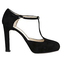 Buy Hobbs London Amelia T Bar Court Shoes, Black Online at johnlewis.com