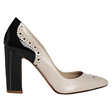 Buy Hobbs Mya Court Shoes, Neutral/Navy Online at johnlewis.com