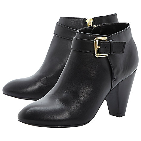 Buy Dune Nash Leather Buckle Detail Ankle Boots, Black Online at johnlewis.com
