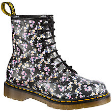 Buy Dr. Martens Mini Tydee Floral Ankle Boots, Black/Floral Online at johnlewis.com