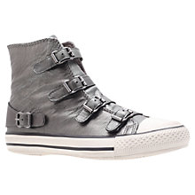 Buy Kurt Geiger Lizzy Leather High Top Trainers Online at johnlewis.com