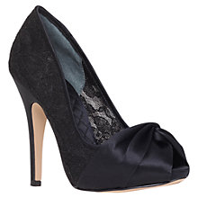 Buy Nine West Farewell Stiletto Heel Peep Toe Shoes, Black Online at johnlewis.com