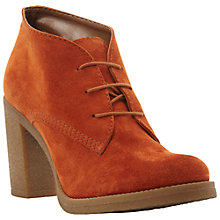 Buy Dune Preem Suede Ankle Boots, Orange Online at johnlewis.com