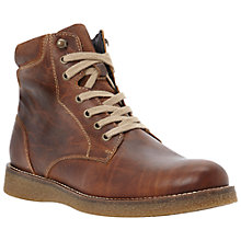 Buy Bertie College Leather Lace Up Boots, Tan Online at johnlewis.com