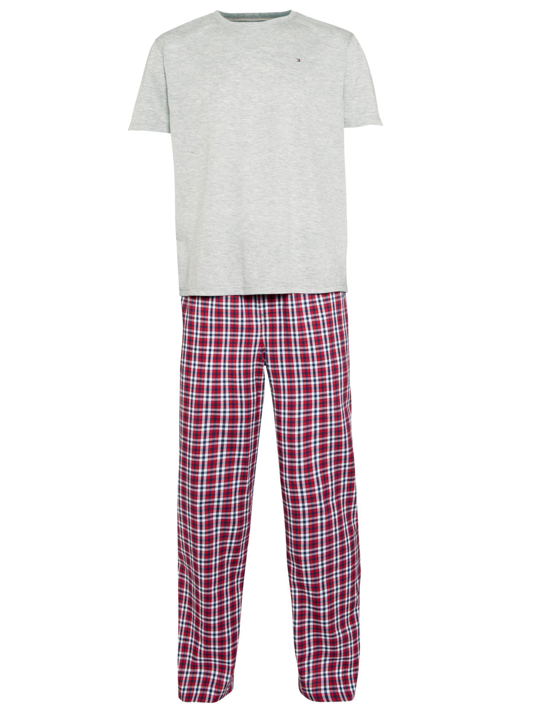 Tommy Hilfiger Gerald Pyjama Set, Grey/Red