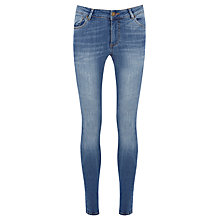Buy Warehouse Super Fit Skinny Jeans, Mid Wash Denim Online at johnlewis.com