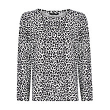 Buy Mango Leopard Print Sweater, Natural White Online at johnlewis.com