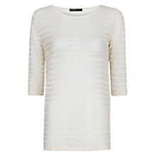 Buy Mango Lace T-Shirt, Natural White Online at johnlewis.com
