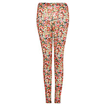 Buy Mango Printed Leggings, Bright Red Online at johnlewis.com