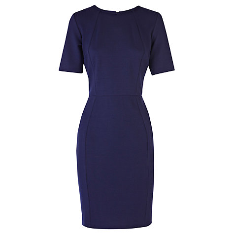 Buy Warehouse Zip Back Dress, Navy Online at johnlewis.com